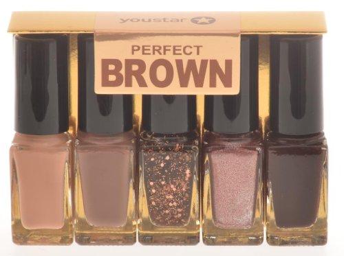 youstar nagellack set 5er perfect brown - youstar Nagellack Set 5er - Perfect Brown