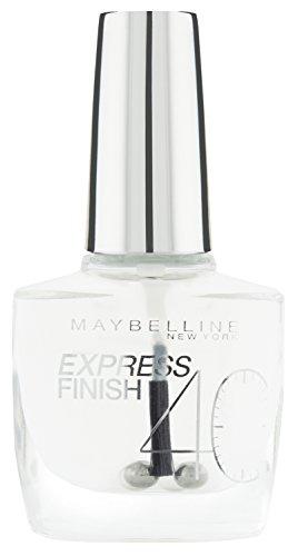 maybelline new york make up nailpolish express finish nagellack durchsichtig ultra schnelltrocknender farblack in transparent 1 x 10 ml - Maybelline New York Make-Up Nailpolish Express Finish Nagellack Durchsichtig / Ultra schnelltrocknender Farblack in Transparent, 1 x 10 ml